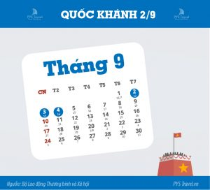 Thông báo lịch nghỉ lễ Quốc Khánh 02/09